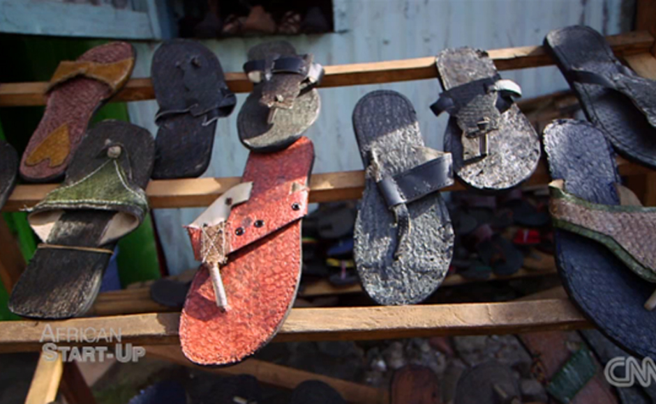 Image result for newton owino making shoes from fish skin